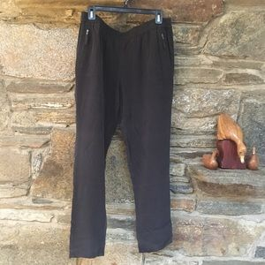 JOIE pull-on 100% silk track style pant